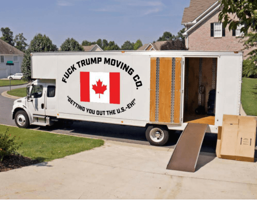 Canada donald trump moving truck politics - 8757509888