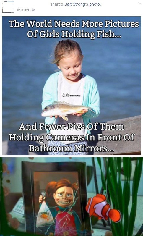 cartoon memes girls holding fish finding nemo