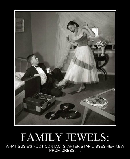 FAMILY JEWELS: WHAT SUSIE'S FOOT CONTACTS, AFTER STAN DISSES HER NEW PROM DRESS . . .