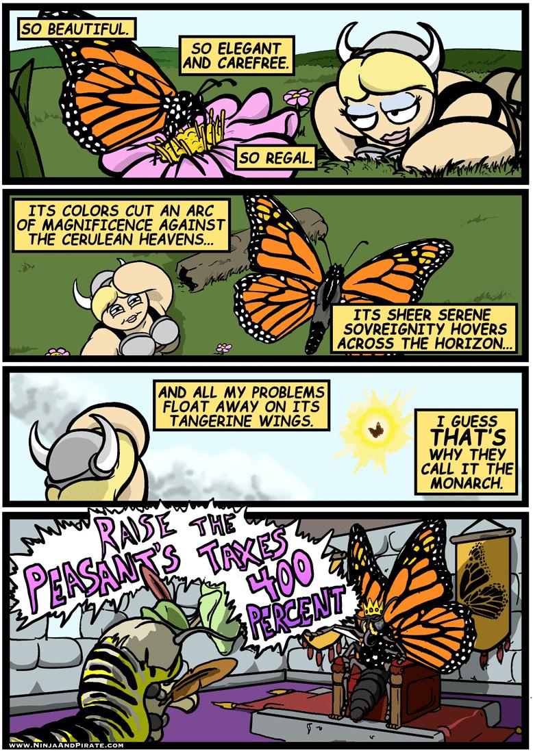 web comics puns butterfly So Majestic