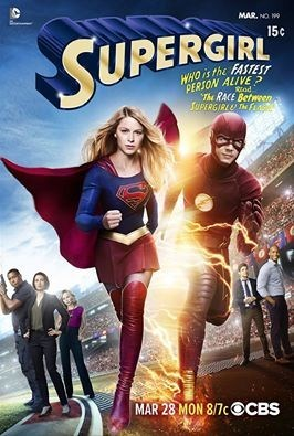 superheroes flash supergirl The Flash/Supergirl Crossover Released a Poster With a Competitive Edge