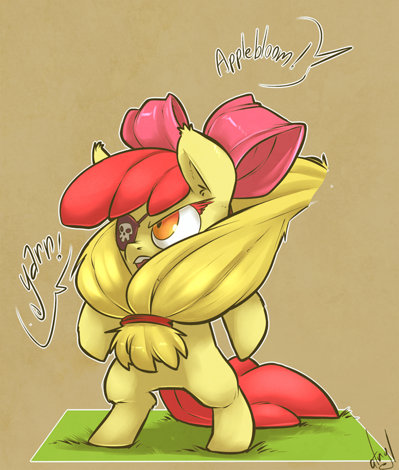 apple bloom,applejack,pirates
