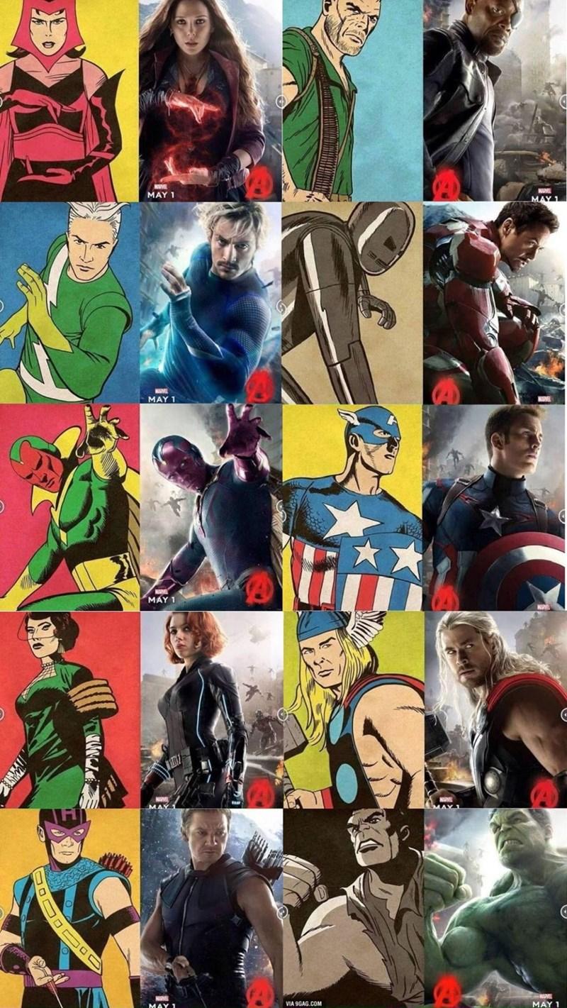 avengers poster superheroes Avengers Poster vs. The Original
