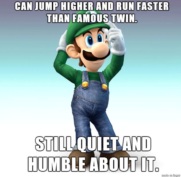 video game memes humble good guy luigi