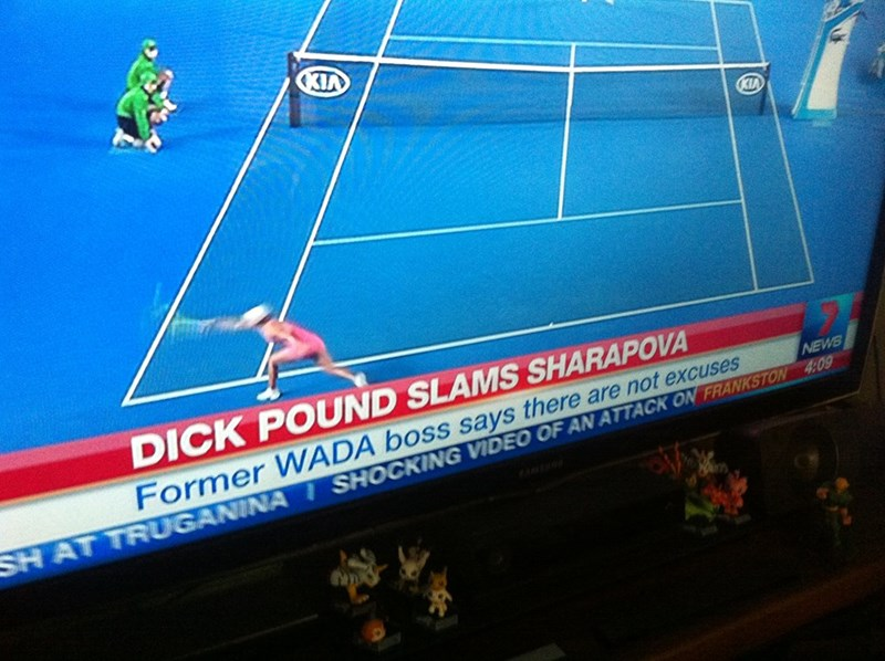 naughty tennis headline dick pound slams sharapova