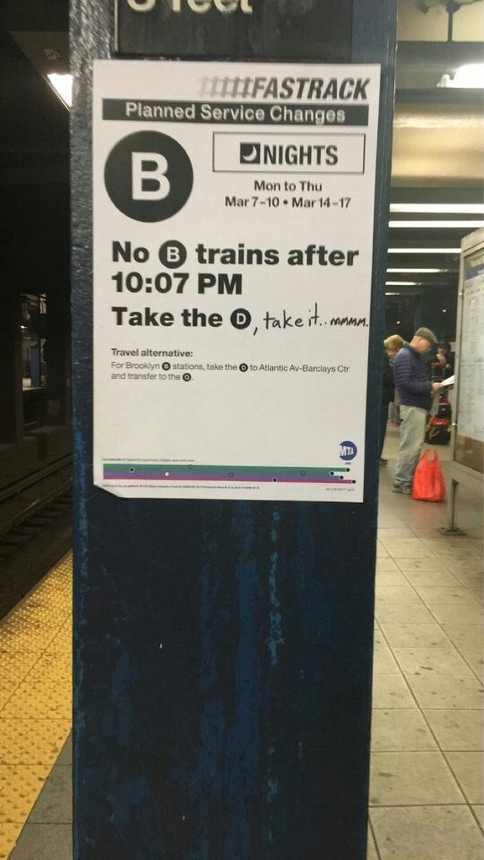 take the d train