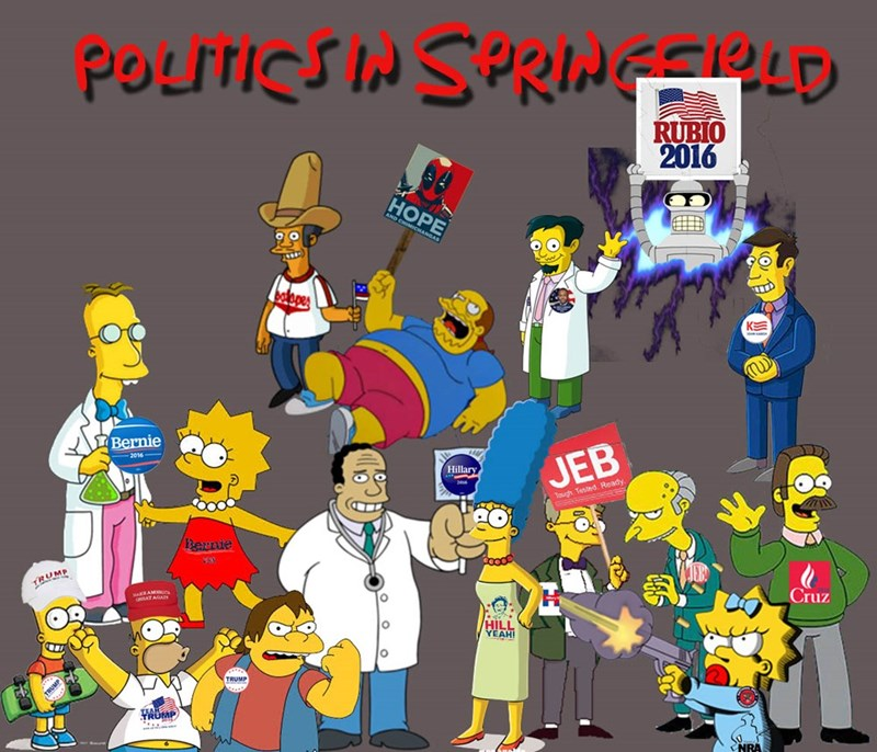 cartoons the simpsons politics - 8758169344