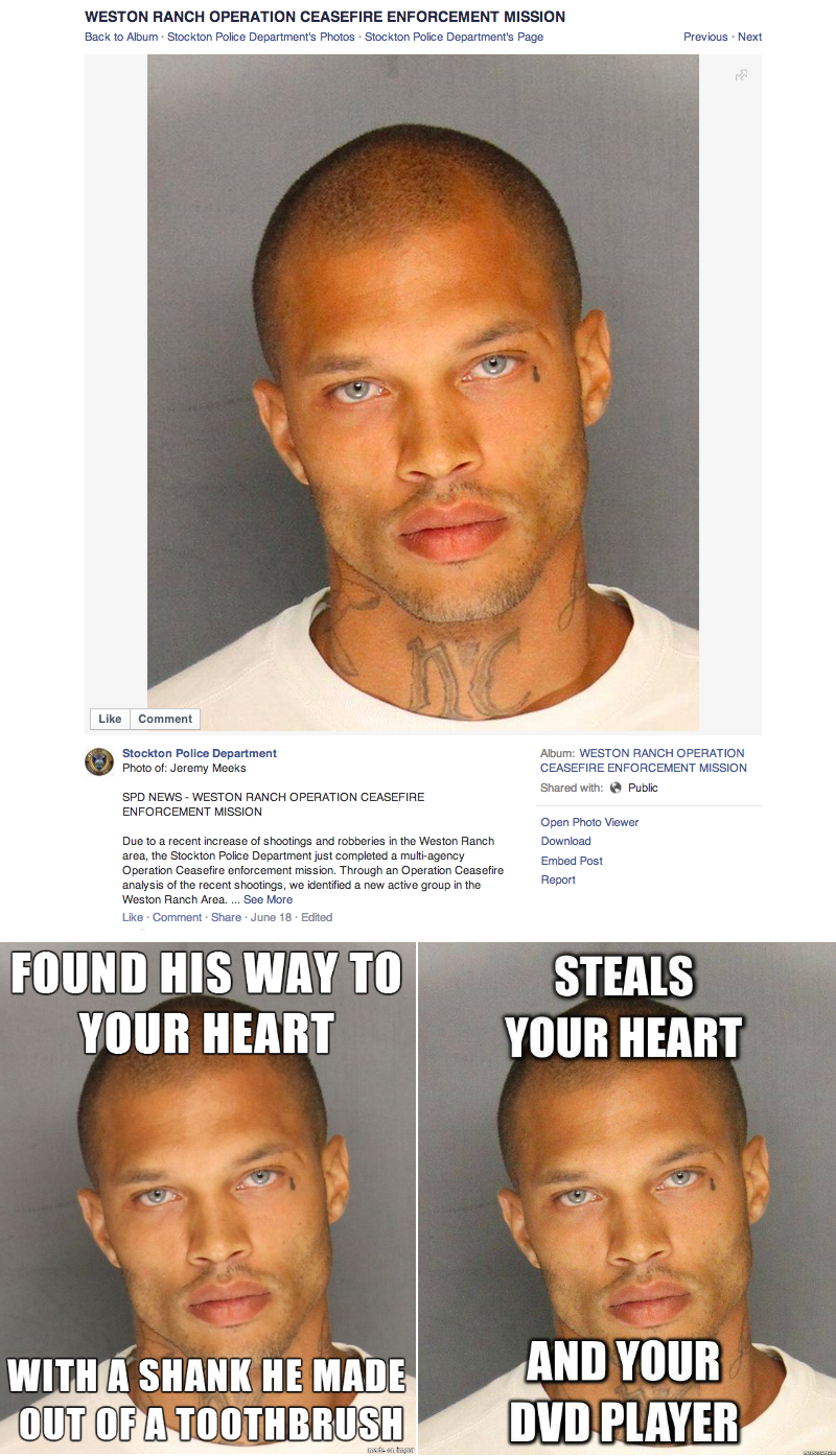 attractive convict out of jail