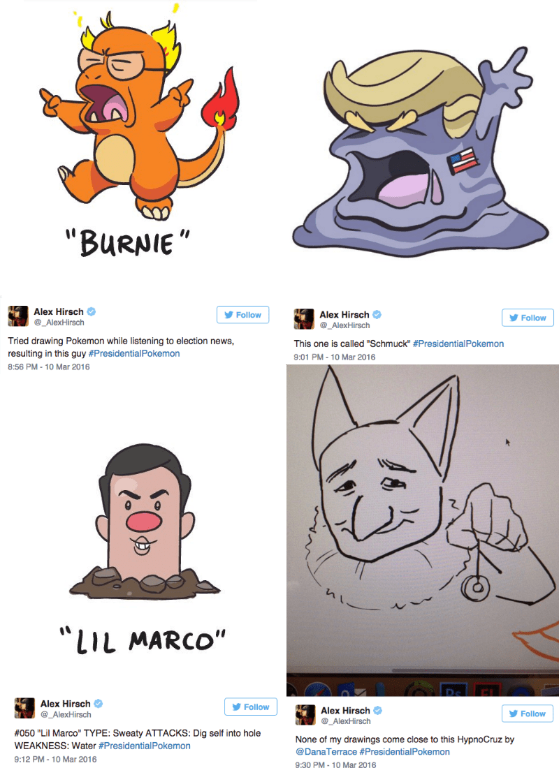 pokemon memes alex hirsch presidential pokemon