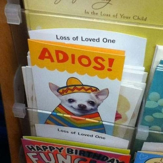 Death adios card - 8758388480