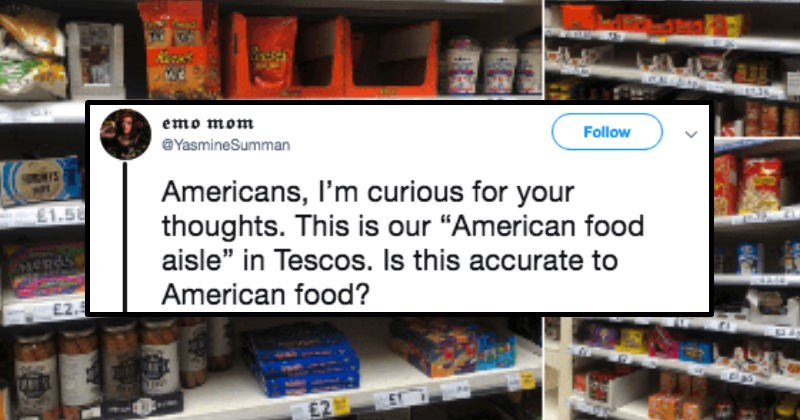 american food aisle in the uk