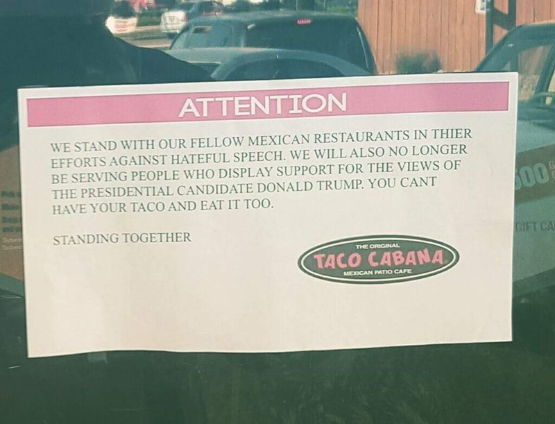 sign tacos IRL donald trump - 8758823168