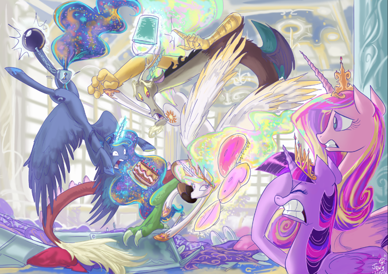 cake discord princess cadence twilight sparkle princess luna princess celestia - 8758825728