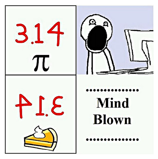 3.14 backwards is pie