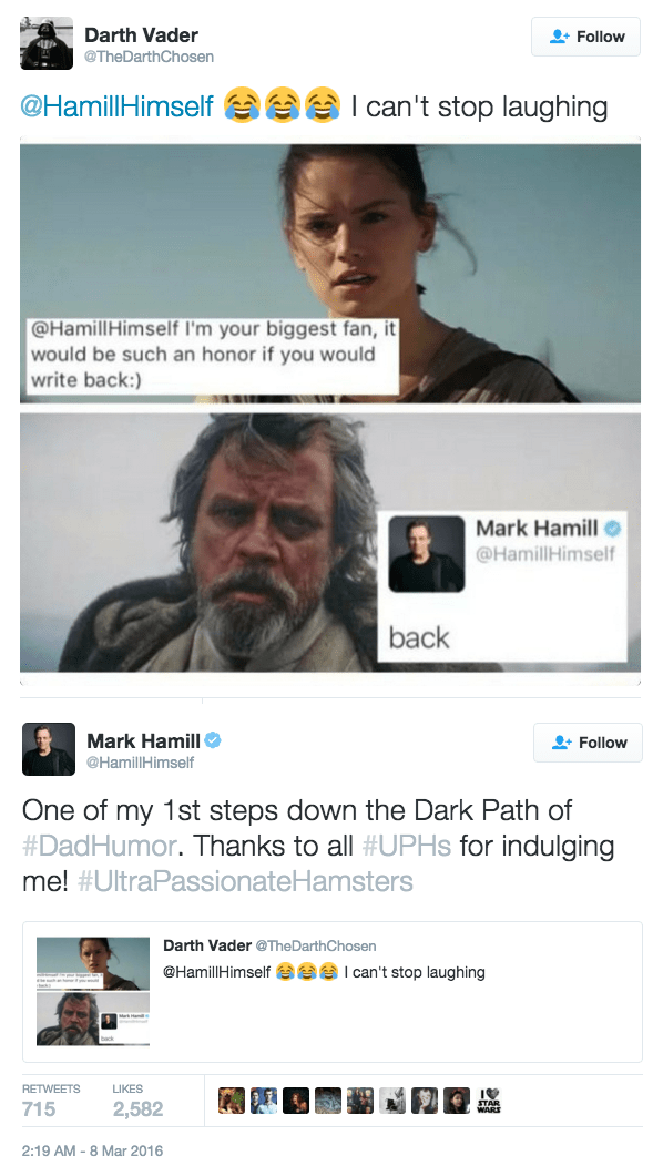 mark hamill twitter dad joke