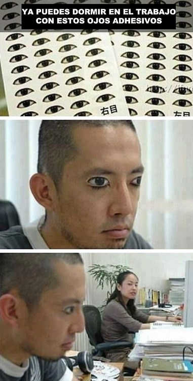 ojos adhesivos