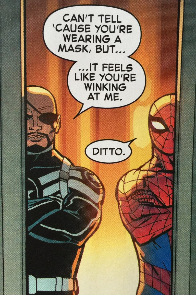 spider-man nick fury comics Wink, Wink.