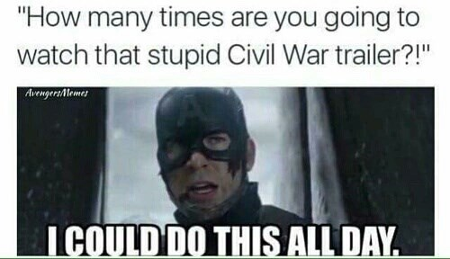 captain america trailers memes Are You Still Watching?