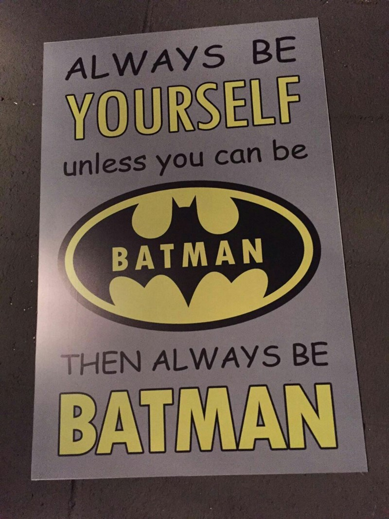 batman advice Solid Advice