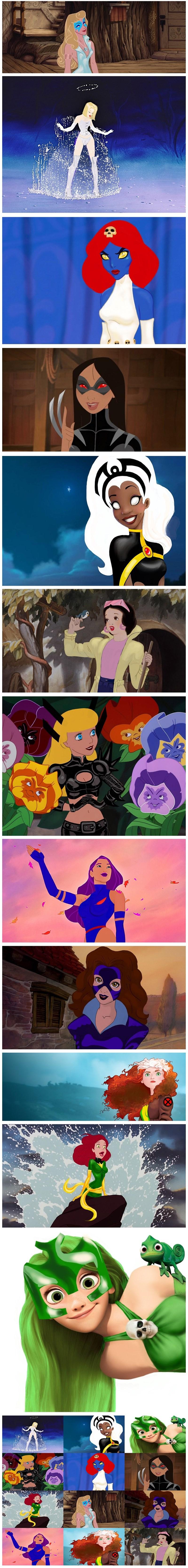 princesas disney xmen