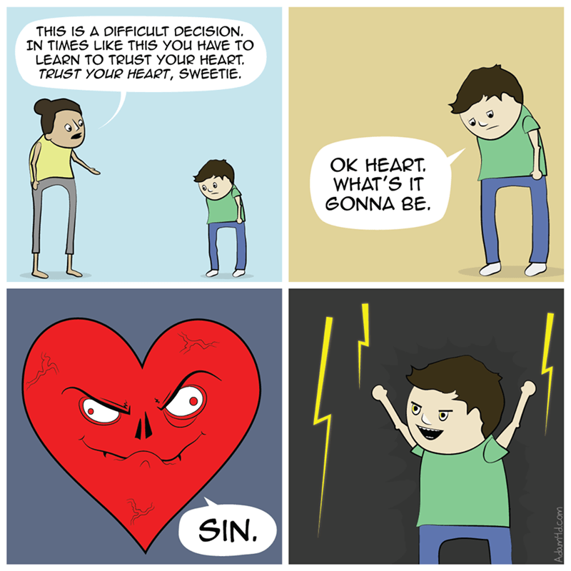 heart right and wrong web comics