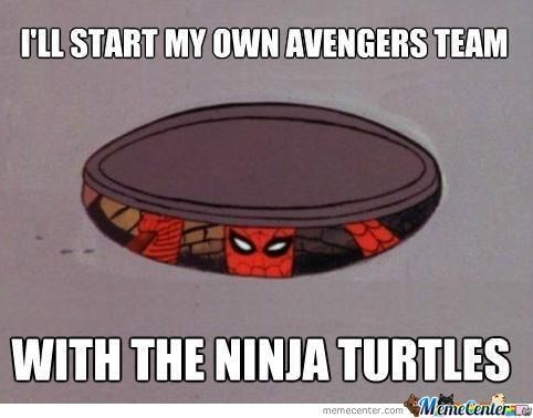 ninja turtles Spider-Man avengers - 8759325184