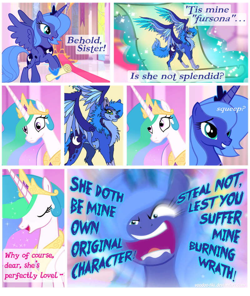 OC princess luna fursona princess celestia furry - 8759359488