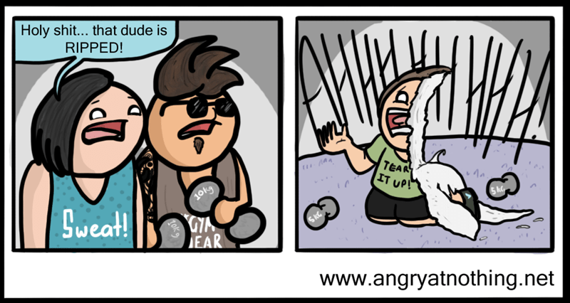 gym,puns,web comics