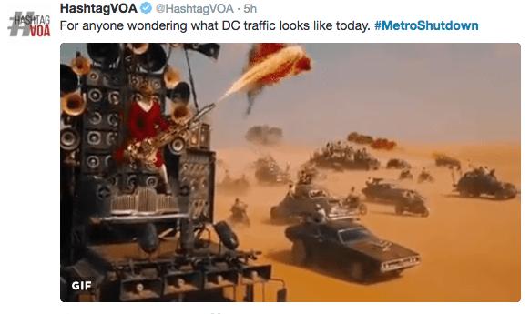 Strategy video game - HashtagVOA @HashtagVOA 5h For ane wondering what DC traffic looks like today. #MetroShutdown HASHTAG GIF