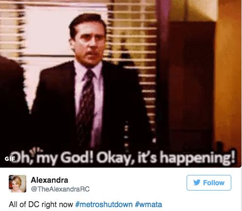 Suit - Ohymy God! Okay, it's happening! Alexandra Follow @TheAlexandraRC All of DC right now #metroshutdown #wmata C