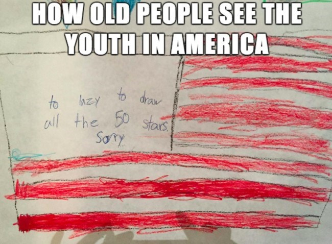 how old people see youth