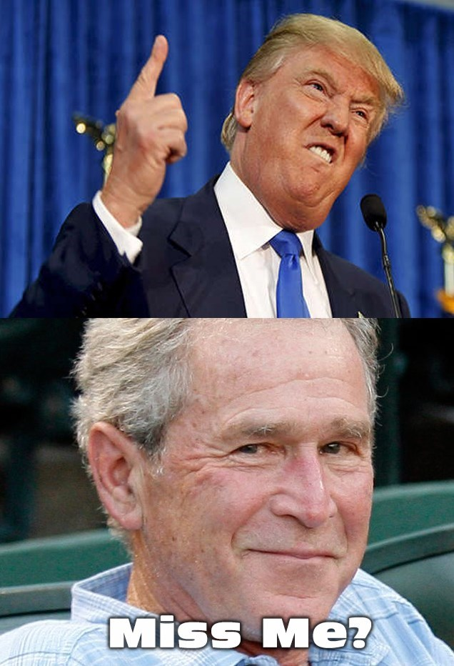 donald trump george w bush - 8759578624