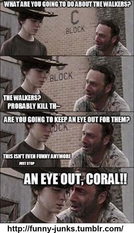 walking dead eye out coral