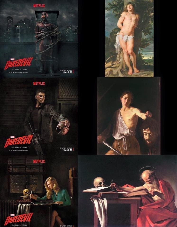 daredevil poster art Daredevil Posters Mimic Classic Works of Art
