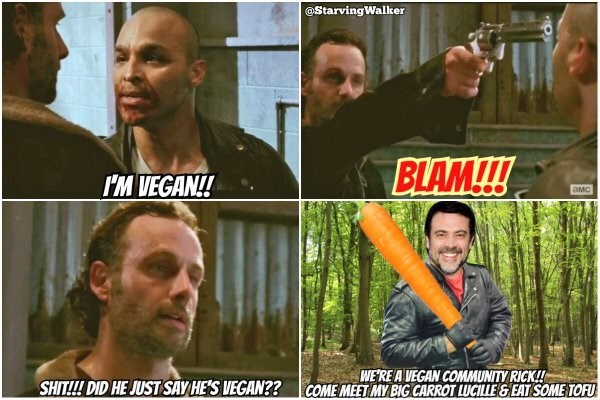 is negan a vegan