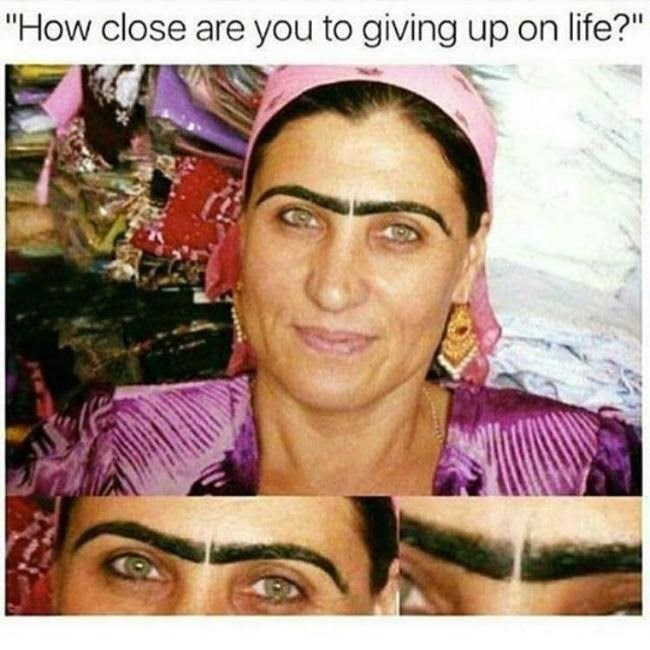 funny memes eyebrows close to giving up