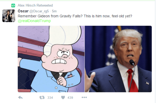 donald trump,gravity falls