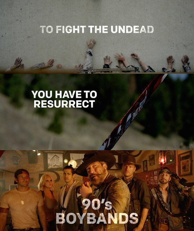 movies trailers video Members of Your Favorite 90s Boy Bands Are Uniting to Make a Zombie Fighting Western