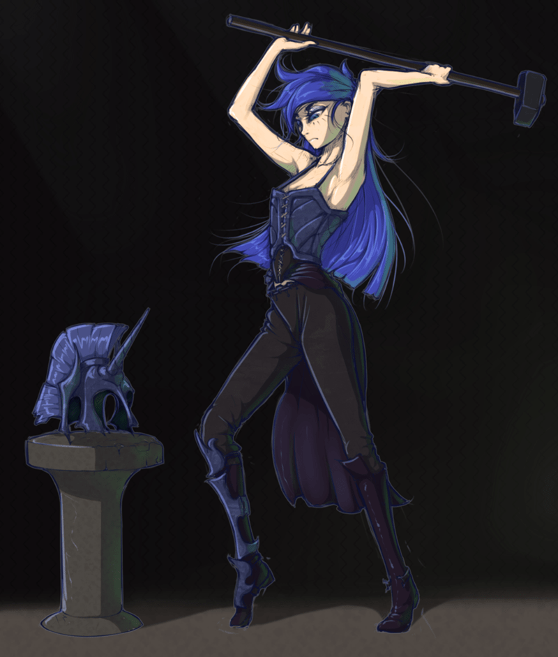 humanized princess luna - 8760212224