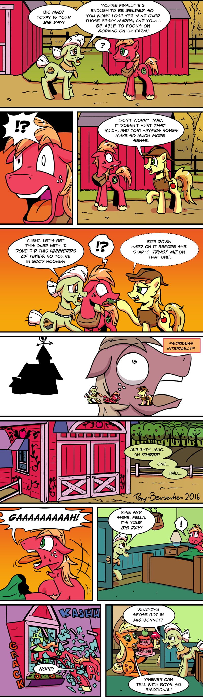 applejack,braeburn,apple bloom,Big Macintosh,granny smith,comic