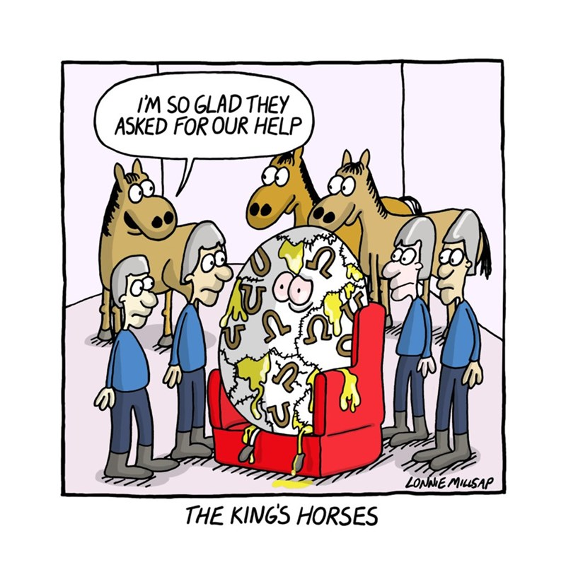 web comics horses humpty dumpty They're Actually Trained to Deal With Puzzles
