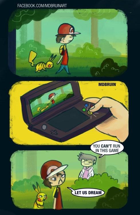 pokemon memes cant run in yellow