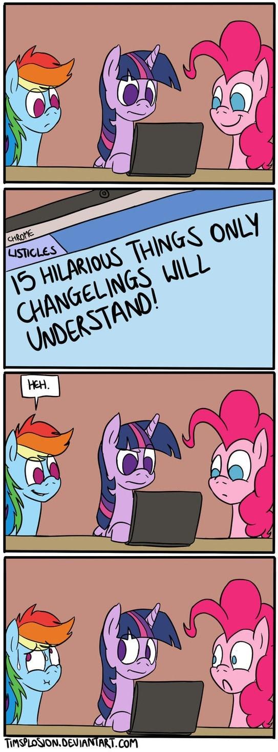 twilight sparkle pinkie pie comic changelings rainbow dash - 8760438016