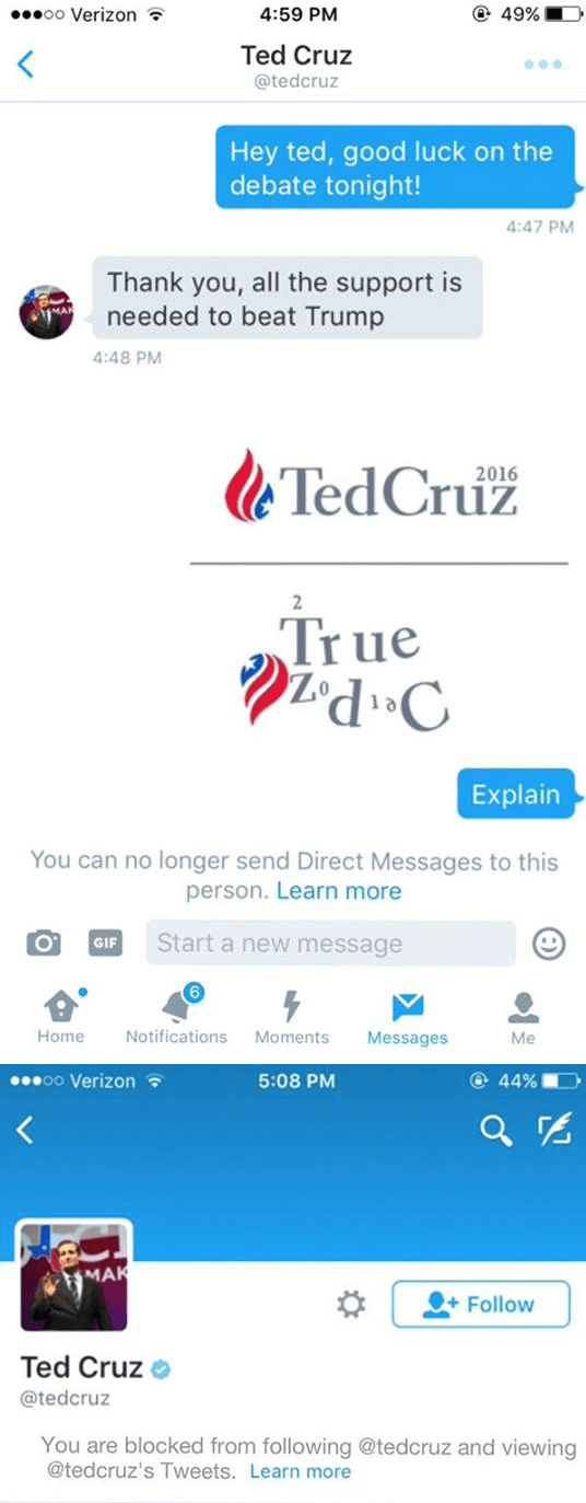twitter troll good luck ted cruz true zodiac