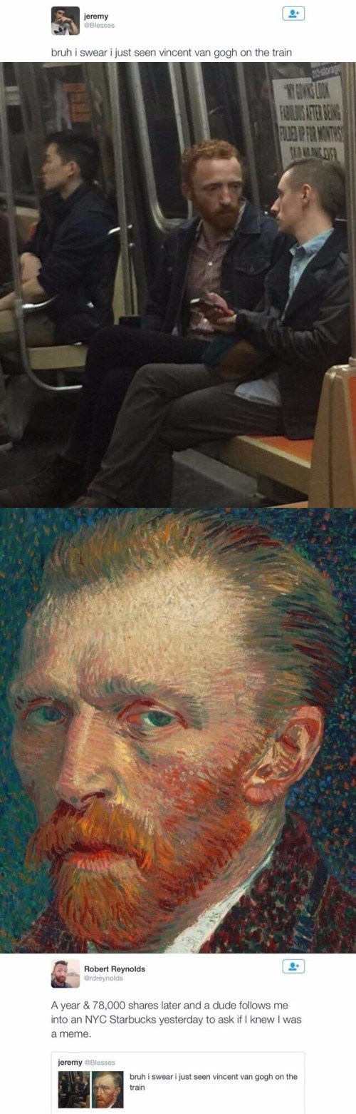guy who looks like van gogh on twitter