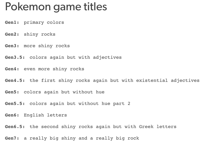 pokemon game titles