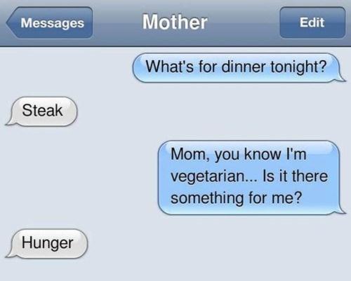 parenting,vegetarian,sms