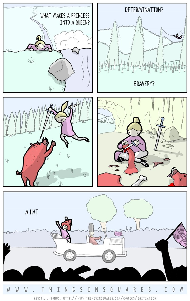 web comics hats queen Wearing a Hat That Grand Is Not for the Faint of Heart