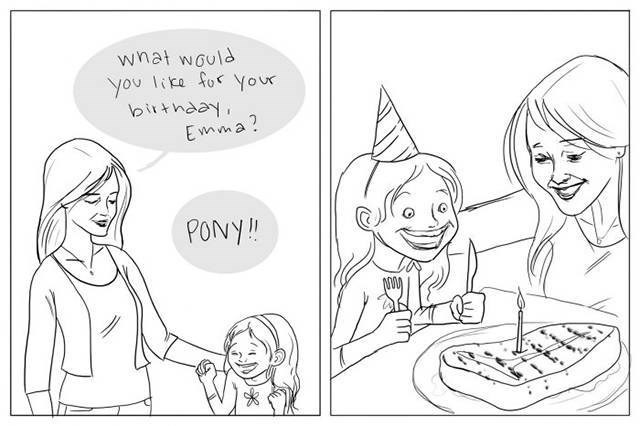 web comics birthday pony Delicious