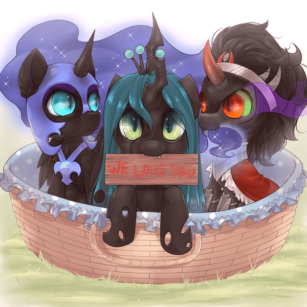 adoption chrysalis princess luna nightmare moon sombra - 8760715776